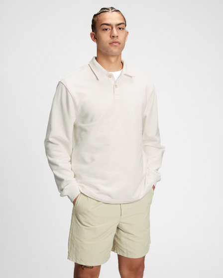 GAP French Terry Polo T-shirt