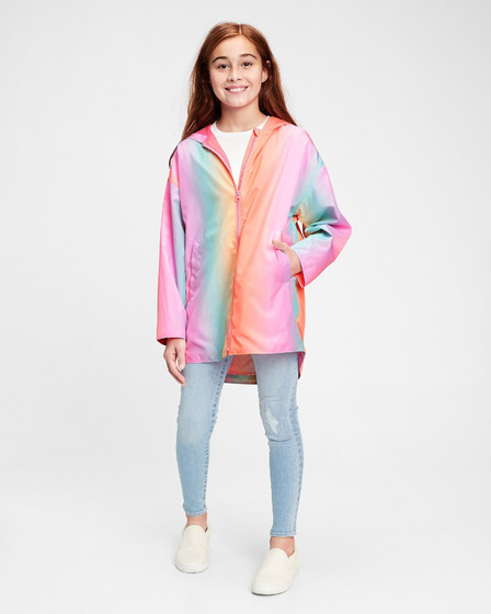 GAP Ombre Rainbow Kids Raincoat